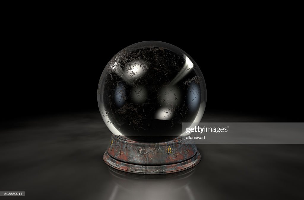 Crystal Ball Dark : Stock Photo