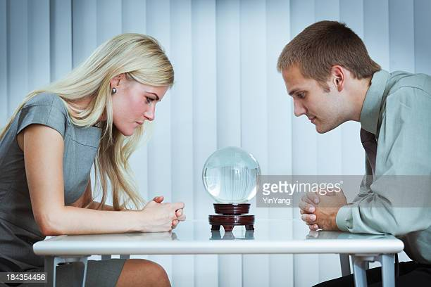 Crystal Ball Fortune Telling, Forecasting Business and Finance  Team Future