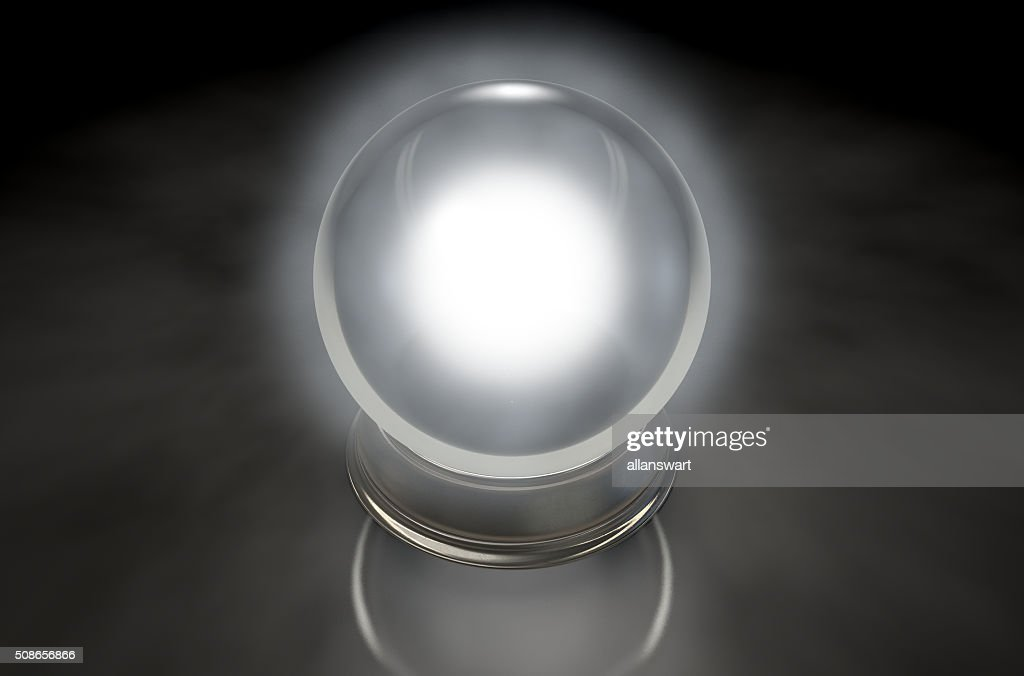 Crystal Ball Glowing : Stock Photo