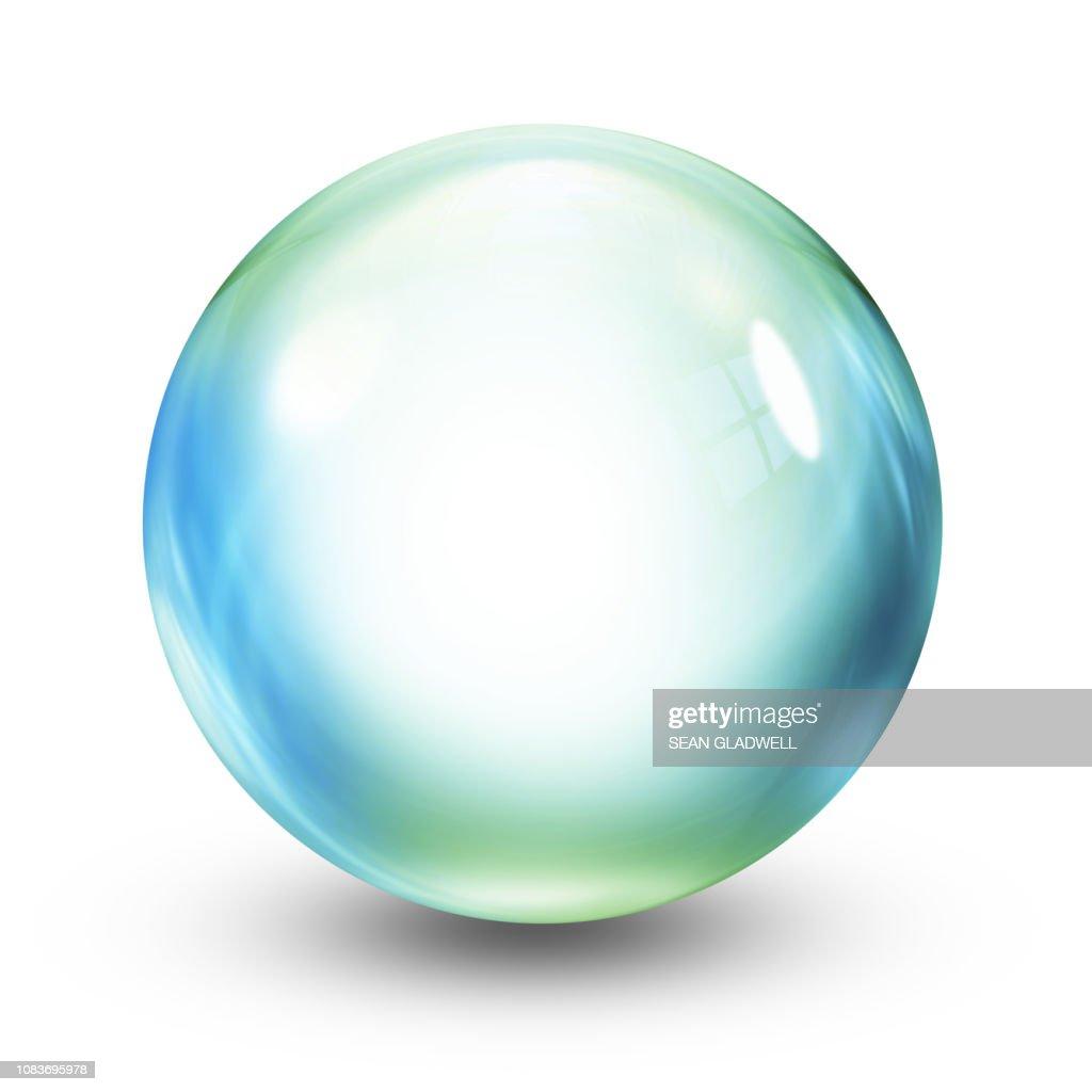 Crystal ball illustration : Foto stock