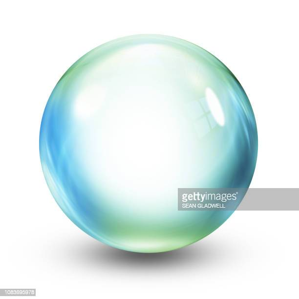 crystal ball illustration - glas materiaal stockfoto's en -beelden