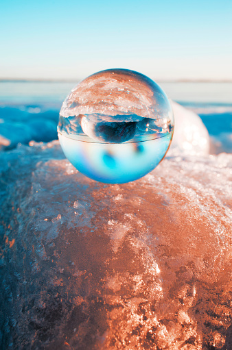 Crystal ball on glacier - gettyimageskorea