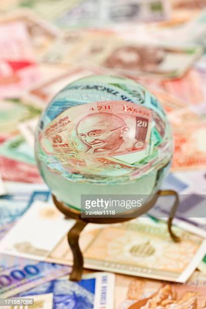 Crystal Ball With Indian Money