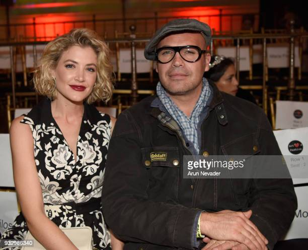 Crystal Bernard and Billy Zane at Los Angeles Fashion Week Powered by Art Hearts Fashion LAFW FW/18 10th Season Anniversary Backstage and Front Row...