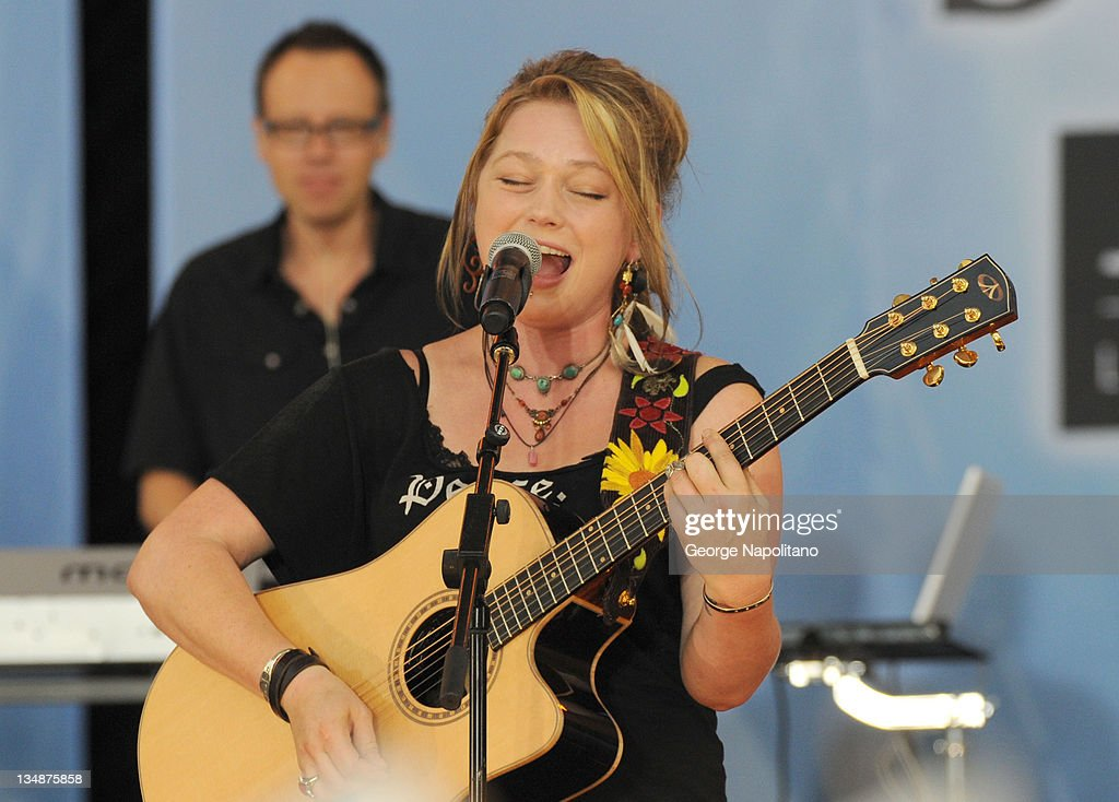 Crystal Bowersox performs on ABC's 'Good Morning America' at Rumsey Playfield, Central Park on July 9, 2010 in New York City.