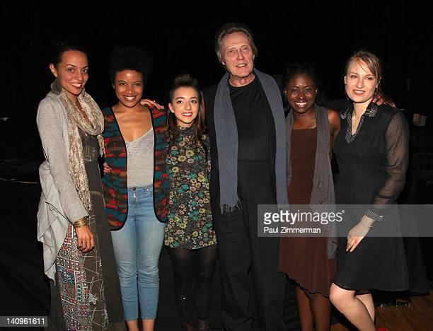 Crystal Boyd Daphne Gabriel Angelina Prendergast Christopher Walken Jameelah Nuriddin and Clara Gabrielle visits 'Innocent Flesh' at Actors Temple...