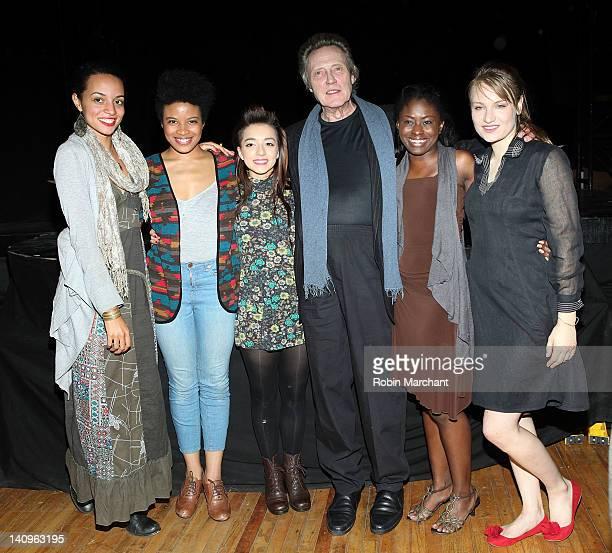 Crystal Boyd Daphne Gabriel Angelina Prendergast Christopher Walken Jameelah Nuriddin and Clara Gabrielle visit 'Innocent Flesh' at Actors Temple...