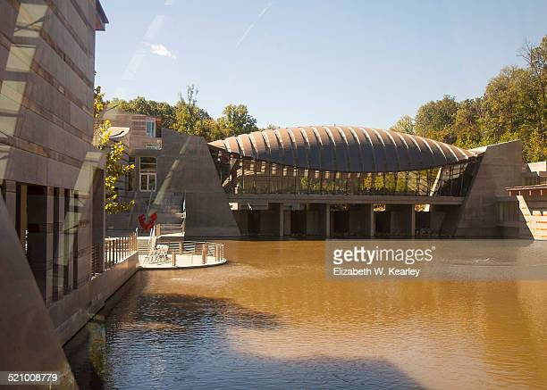 Crystal Bridges Art Museum is a free museum set up by the Walton's of Walmart fame