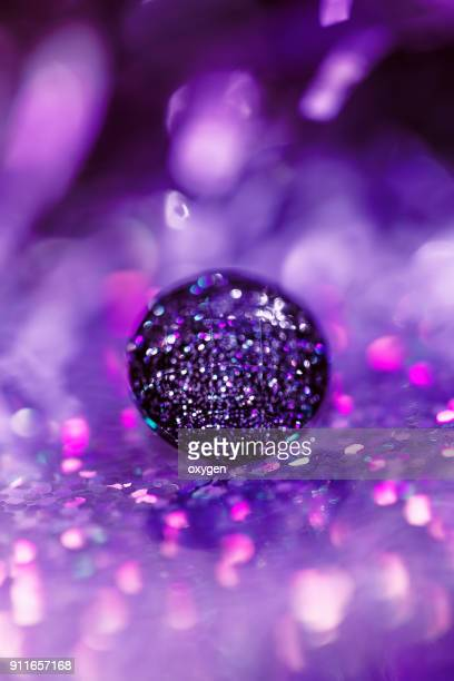 Crystal button on bokeh background