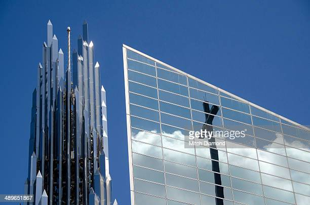 crystal cathedral architecture and design - crystal cathedral stock pictures, royalty-free photos & images