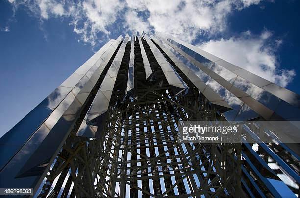 crystal cathedral church - crystal cathedral stock-fotos und bilder