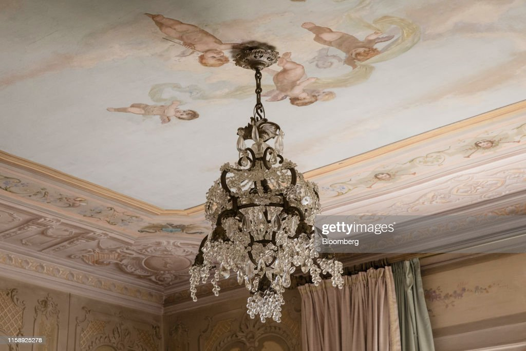 A Crystal Chandelier Hangs From The Ceiling Of A Bedroom Inside The News Photo Getty Images