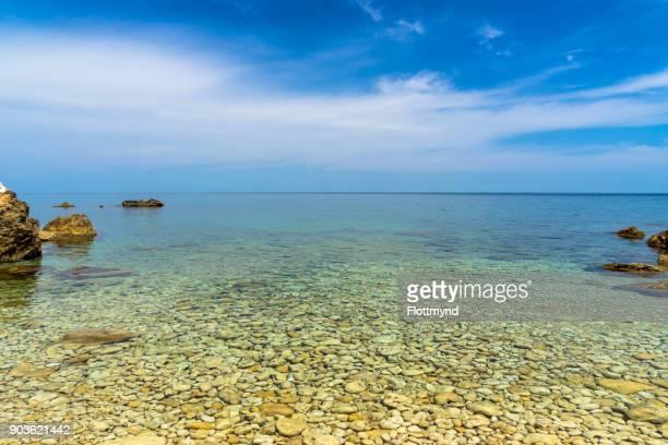 Crystal clear Mediterranean Sea near Gozo