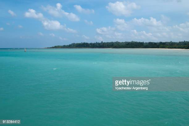 crystal clear turquoise water, tropical paradise of andaman and nicobar islands, india - argenberg stock pictures, royalty-free photos & images