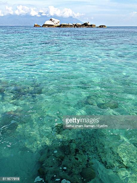 Crystal clear water against sky