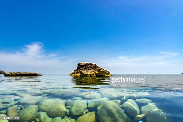 Crystal clear water at the coast of Gozo