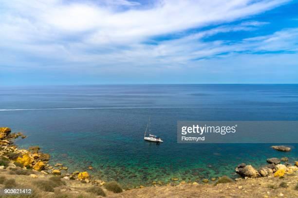 Crystal clear waters of the Mediterranean Sea near Gozo