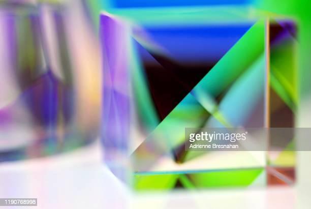 crystal cube - アクリル ストックフォトと画像