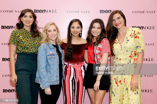Crystal Dilworth Nicole Small Anjali Chadha Miranda Cosgrove and Teen Vogue senior politics editor Allegra Kirkland attend the Teen Vogue Summit 2019...