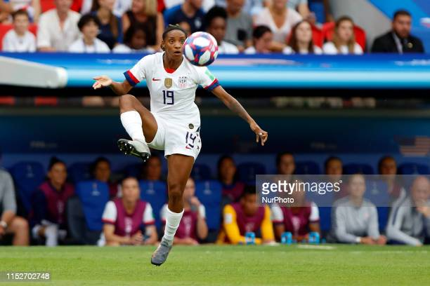 Crystal Dunn during the 2019 FIFA Women's World Cup France Quarter Final match between France and USA at Parc des Princes on June 28 2019 in Paris...
