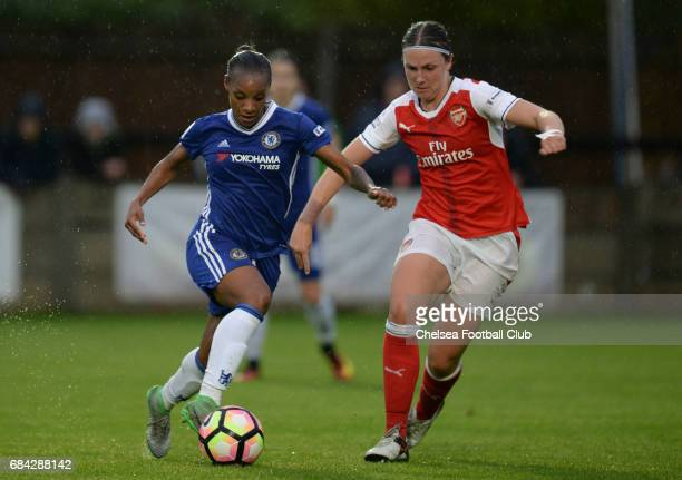 Crystal Dunn of Chelsea during a WSL 1 match between Chelsea Ladies FC and Arsenal Ladies FC on May 17 2017 in Staines England