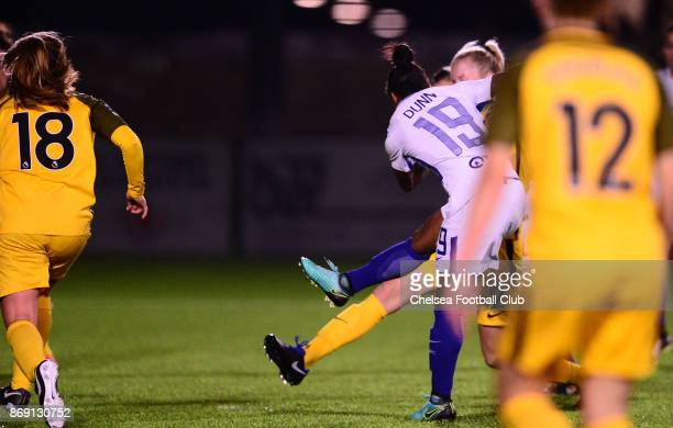 Crystal Dunn of Chelsea scores to make it 20 during a Continental Cup Match between Chelsea Ladies and Brighton Hove Albion Women on November 1 2017...