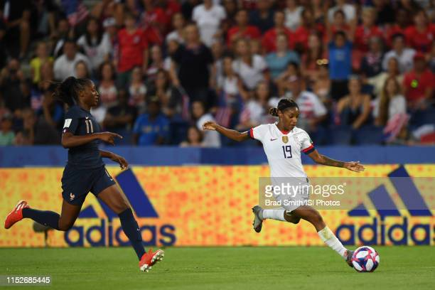Crystal Dunn of the United States during the 2019 FIFA Women's World Cup France quarterfinal match between France and the United States at Parc des...