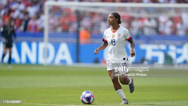 Crystal Dunn of the United States during the 2019 FIFA Women's World Cup France final match between the Netherlands and the United States at Stade de...