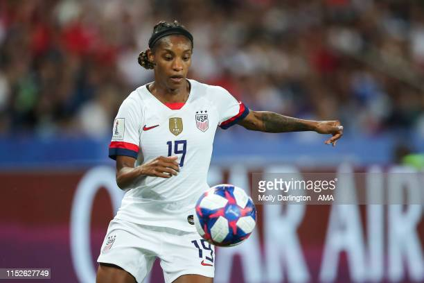 Crystal Dunn of USA during the 2019 FIFA Women's World Cup France Quarter Final match between France and USA at Parc des Princes on June 28 2019 in...