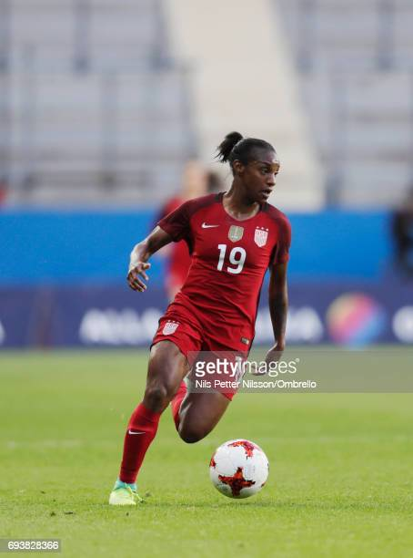 Crystal Dunn of USA during the international friendly between Sweden and USA at Ullevi Stadium on June 8 2017 in Gothenburg Sweden