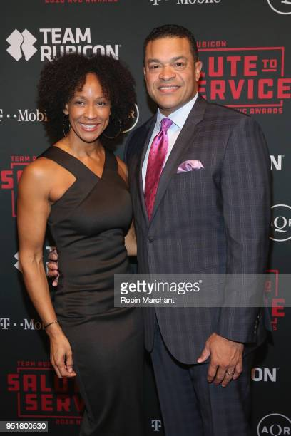 Crystal Eaves and ESPN Sports Center anchor Michael Eaves attend the 2018 Team Rubicon Salute To Service Awards at the Altman Building on April 26...