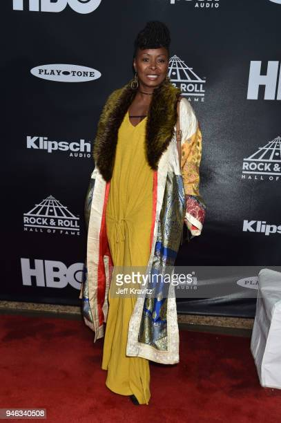 Crystal Fox attends the 33rd Annual Rock Roll Hall of Fame Induction Ceremony at Public Auditorium on April 14 2018 in Cleveland Ohio
