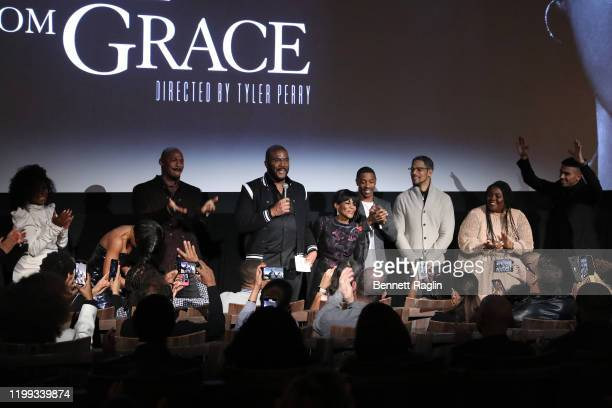 Crystal Fox Mehcad Brooks Tyler Perry Cicely Tyson Walter Fauntleroy Donovan Christie Jr Angela Marie Rigsby and Matthew Law speak during the Netflix...