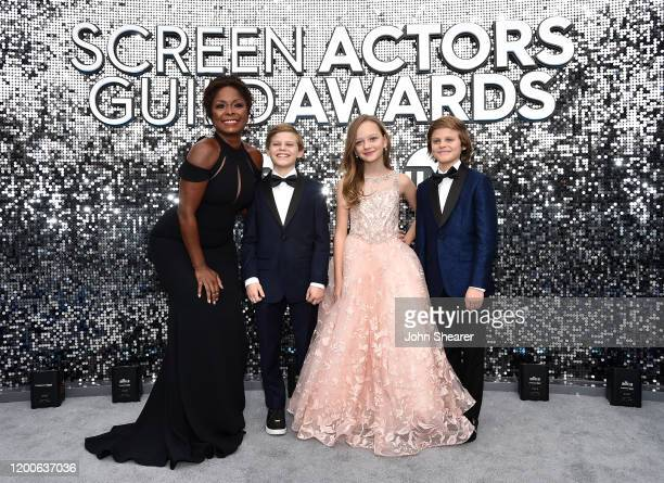 Crystal Fox Nicholas Crovetti Ivy George and Cameron Crovetti attend the 26th Annual Screen Actors Guild Awards at The Shrine Auditorium on January...