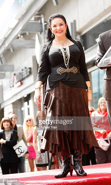 Crystal Gayle attends the ceremony honoring her with a star on the Hollywood Walk of Fame on October 2 2009 in Hollywood California