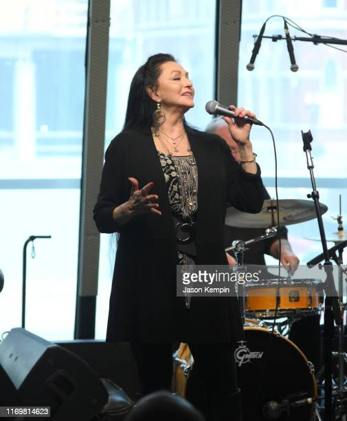 Crystal Gayle performs at SiriusXM studios on August 23 2019 in Nashville Tennessee