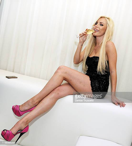 Crystal Harris hosts at Pure Nightclub in Caesars Palace at on July 8 2011 in Las Vegas Nevada