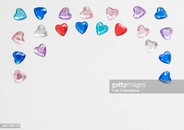 Crystal hearts frame
