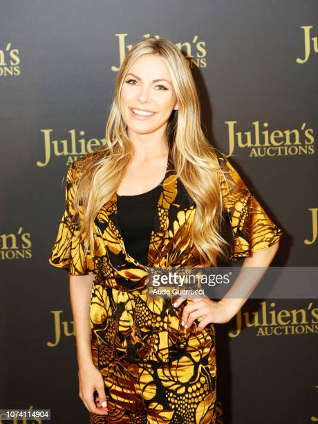 Crystal Hefner arrives at the VIP Reception for Property From The Collection Of Hugh M Hefner Auction Event at Julien's Auctions on November 28 2018...