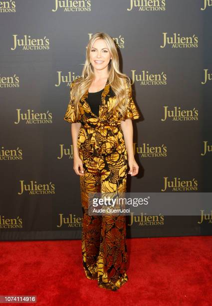 Crystal Hefner arrives at the VIP Reception for 'Property From The Collection Of Hugh M Hefner' Auction Event at Julien's Auctions on November 28...