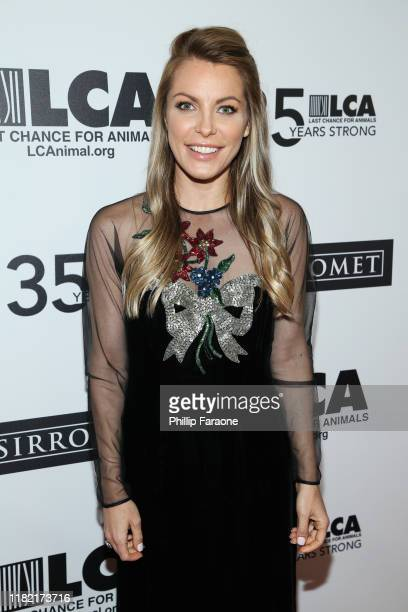 Crystal Hefner attends Last Chance For Animals' 35th Anniversary Gala at The Beverly Hilton Hotel on October 19 2019 in Beverly Hills California