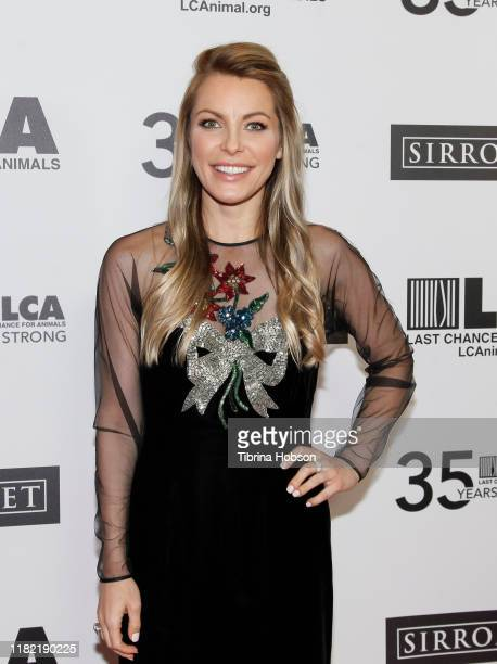 Crystal Hefner attends the Last Chance for Animals' 35th anniversary gala at The Beverly Hilton Hotel on October 19 2019 in Beverly Hills California