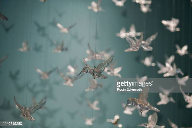 Crystal hummingbird installation at WonderWorld Hollywood and Experience PopUp Opening Night Party on April 05 2019 in Hollywood California