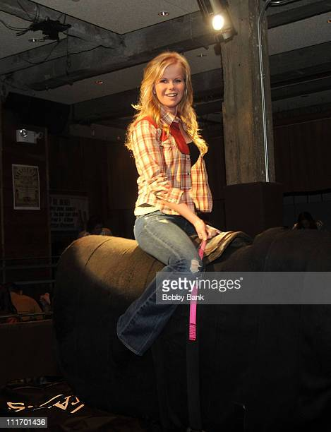 Crystal Hunt attends Crystal Hunt's 25th birthday party at Johnny Utah's on February 3 2010 in New York City