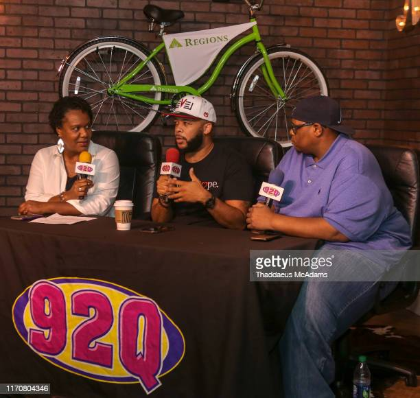 Crystal J James Fortune and Carlos Hale sit down for an interview at Cumulus on August 27 2019 in Nashville Tennessee