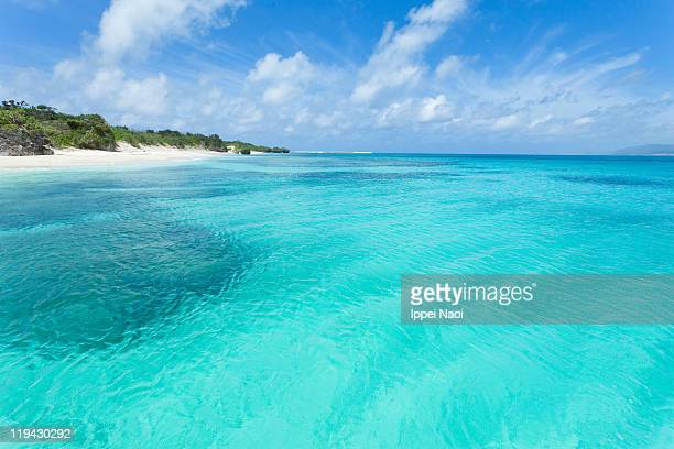 Crystal lagoon water of tropical Japan