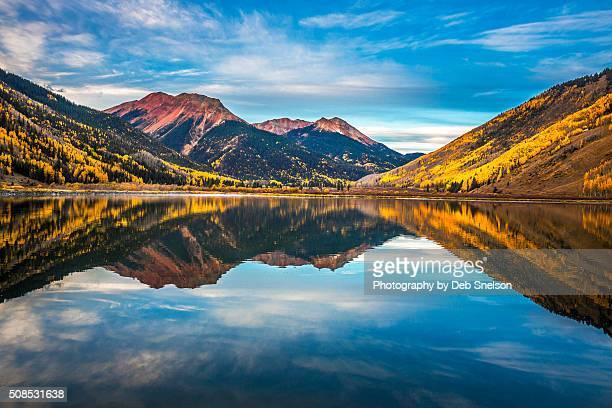 Crystal Lake reflecting Red Mountain Colorado