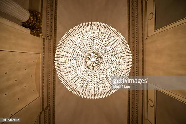 crystal lamp - la scala theatre stock pictures, royalty-free photos & images
