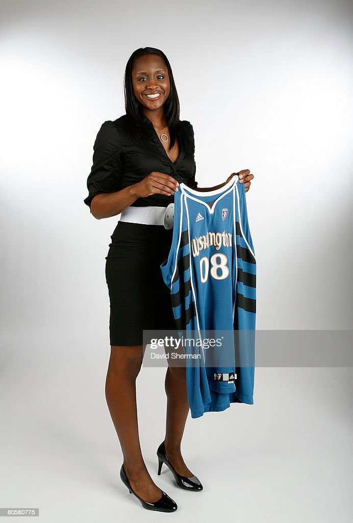 Crystal Langhorne from the University of Maryland, the number 6 overall pick by the Washington Mystics, poses for a portrait during the 2008 WNBA Draft on April 9, 2008 at the Innisbrook Resort & Golf Club in Palm Harbor, Florida.