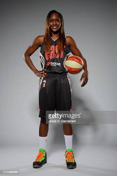 Crystal Langhorne of the Eastern Conference AllStars poses for a portrait during the WNBA AllStar Media Circuit on July 26 2013 at Mohegan Sun Arena...